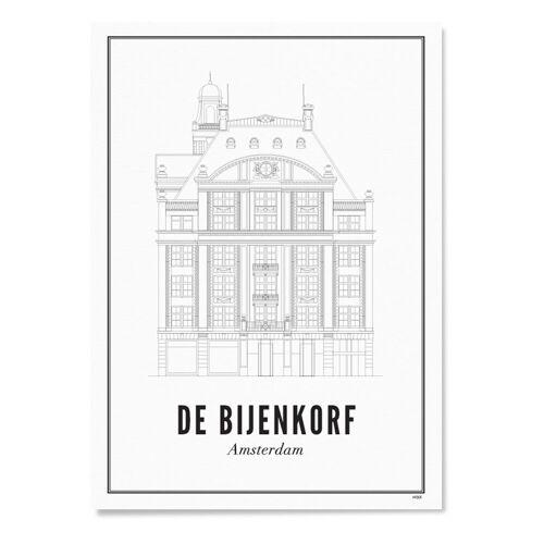 WIJCK. Amsterdam de Bijenkorf print