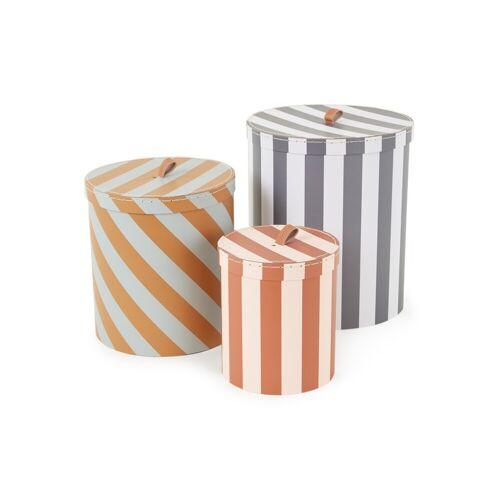 OYOY Living Design Stripe opbergdozen set van 3 - Multicolor