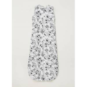 Mies & Co Bumble Love winterslaapzak met bloemenprint - Gebroken wit