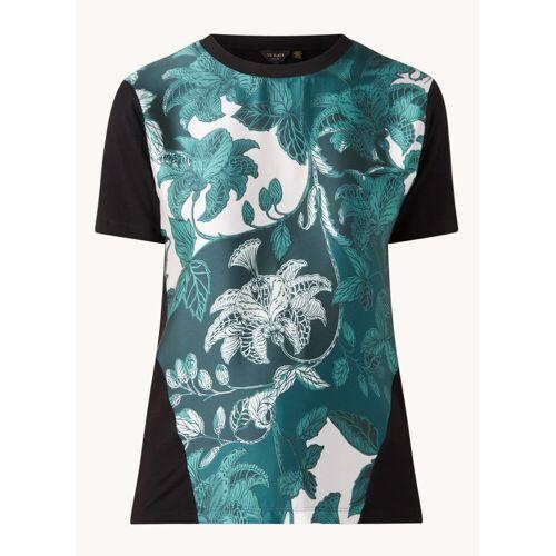 Ted Baker Rococo T-shirt met bloemenprint - Zwart