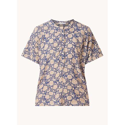 by-bar Bo Bombay blouse van crêpe met bloemenprint