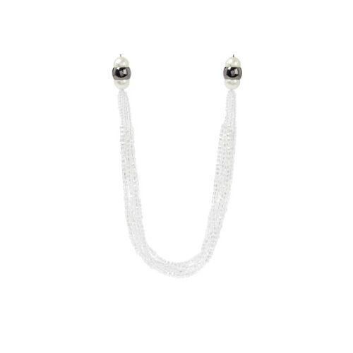 MaxMara Vela ketting met glaskralen - Wit