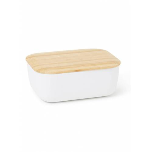 RIG-TIG Box-It botervloot van bamboe 11,5 cm - Wit