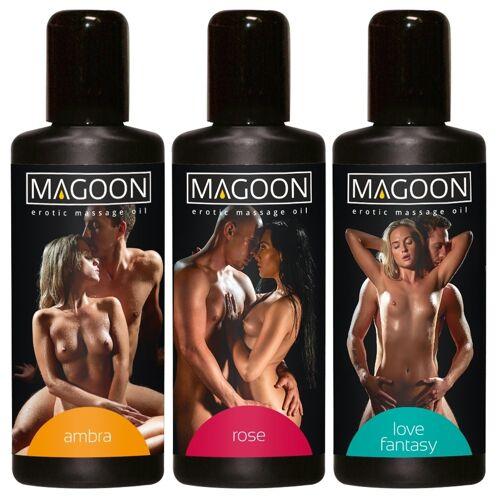 Magoon Erotische Massage Olie Magoon - Set van 3