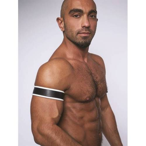 Mister B Biceps Band - Zwart / Wit