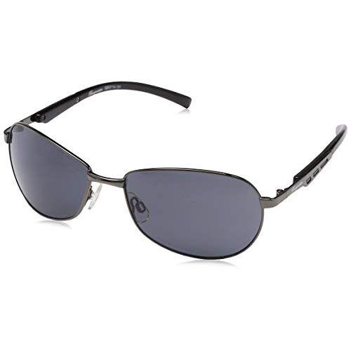 SBM114-181-Schwarz Klassieke merkzonnebril voor heren van Burgmeister met 100% uv-bescherming, zonnebril met stabiele metalen behuizing, hoogwaardig brillenkoker, brillenzakje