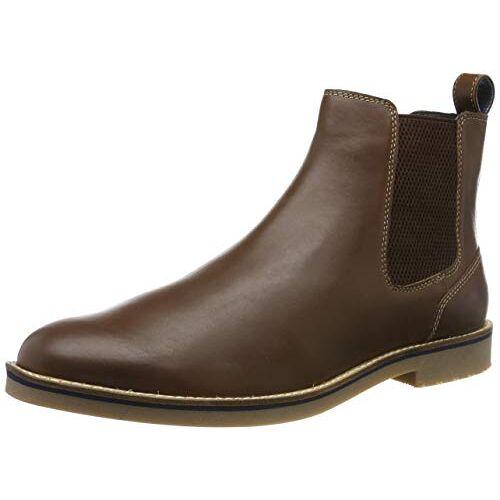 204322_TAN Joules Bourne Chelsea Boots voor heren, bruin bruin bruin bruin bruin bruin, 44 EU