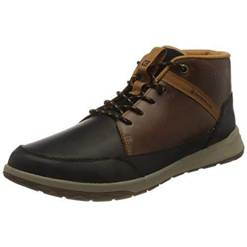 P110007 Cat Footwear Unisex Quest Mid Hi-Top Trainers, Zwarte bruine suiker, 43 EU
