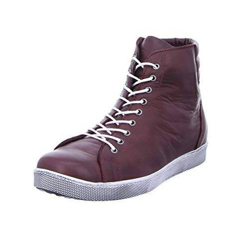 0347843_582 Andrea Conti 0347843 hoge sneakers voor dames, Rood Bourgondië 582, 40 EU