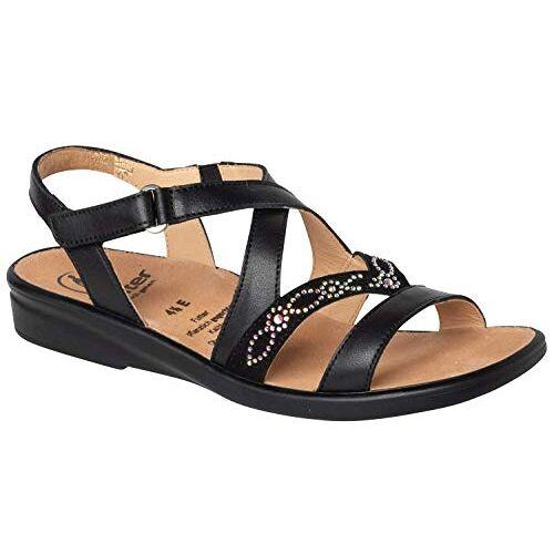 1-202837-01000 Gele Sonnica-E, klittenbandsandalen, dames sandalen