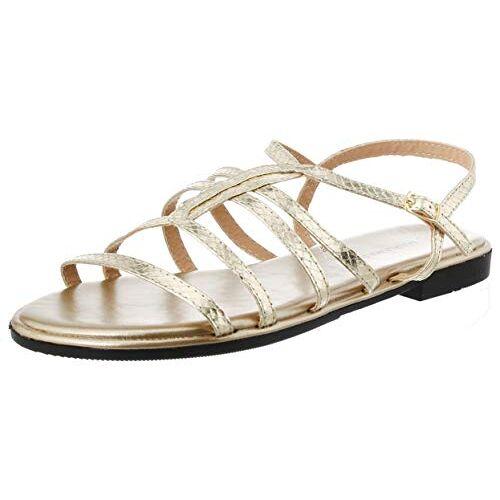 67746 Maria Mare Dames  Peeptoe sandalen, Gold Serpiente Metal Champagne Champagne C49651, 38 EU