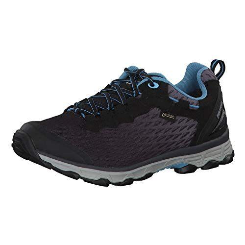 5110-01 Meindl Unisex Meindl wandelschoenen D.Trekking in zwart/Azur Activo Sport Lady Gtx, maat 4 Uk, schoenen, zwart azuur, 37 EU