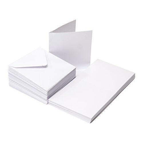 The Paper Palace 50 witte kaarten en enveloppen 3 x 3, 7.62 x 7.62 x 7.62 cm