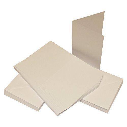 Crafts UK 50 kaarten en enveloppen, wit, 10,1 x 10,1 cm 30/40 mm wit