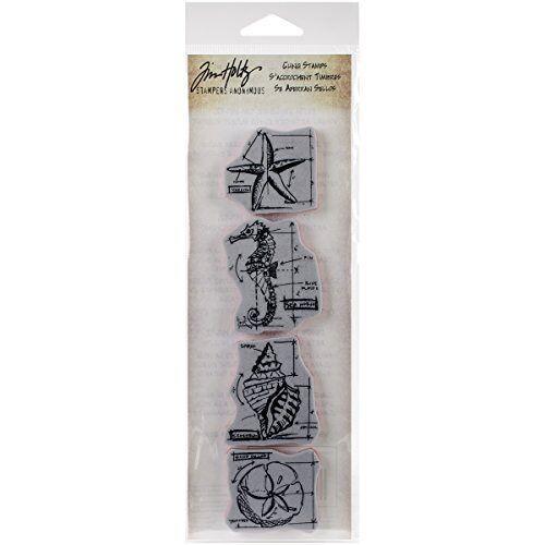 "Stampers Anonymous _AGW stempel, design: Fresh Brewed, motief: ontwerp/technische tekening, mini-strepen, grijs, rood, 3"" by 10"