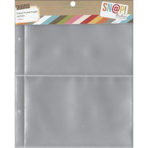 Onbekend Simple Stories 2003 Snap Pocket pagina's voor bindmiddel, meerkleurig, 6 x 20,3 cm, 10 stuks