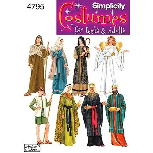 Simplicity Naaipatroon 4795 A mist mannen en tiener kostuums