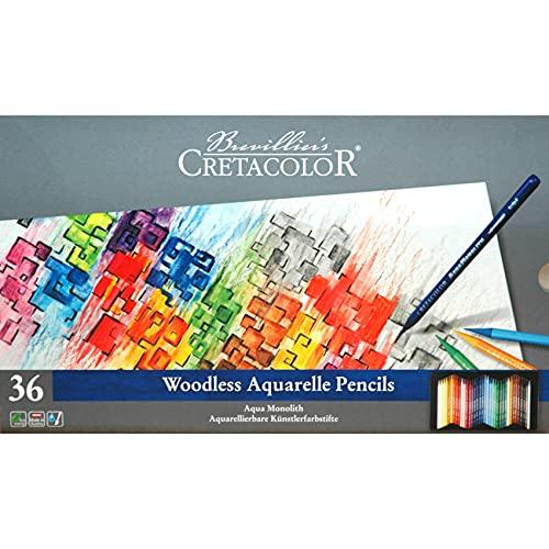 CRETACOLOR 250 36 Aqua Monolith Aquarelleerbare vulpotlood, 36 kleuren