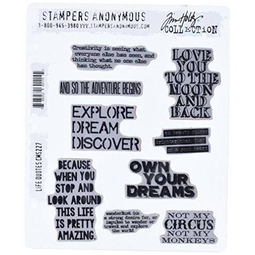 """Stampers Anonymous_AGW Stempel anonymous_agw Engelse citaat""""Life Mounted Stamp"""
