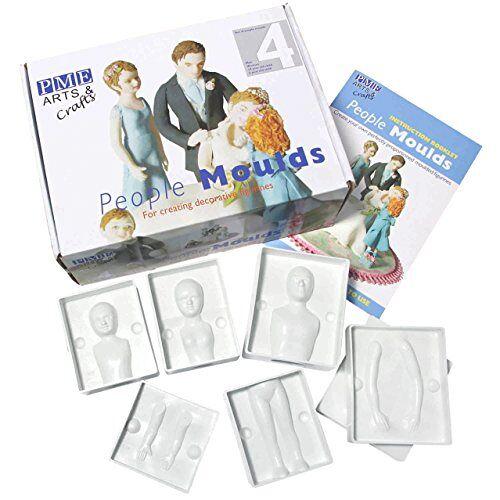 PME PM641 gietvormen voor een familie van vier personen, assortiment, 24-delig, kunststof, ivoor, 24,5 x 9 x 18,5 cm