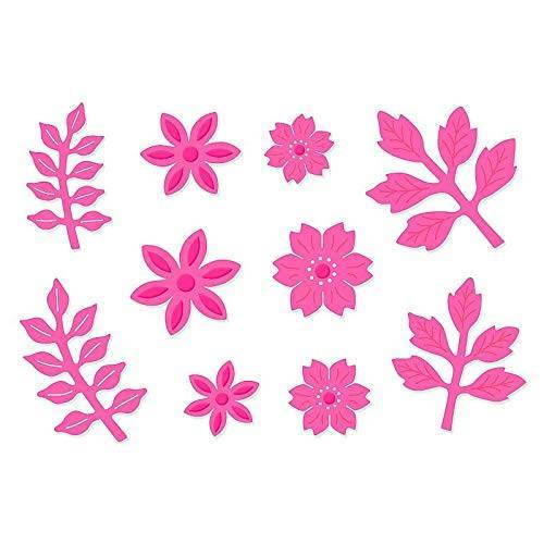 Sweet Dixie Bloembloemen Sterf, Metaal, Grijs, 29,5 x 15,8 x 0,8 cm