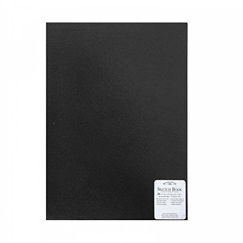 Winsor & Newton 6677232 zwart schetsboek, gebonden, 170 g/m2, 48 bladen, DIN A3