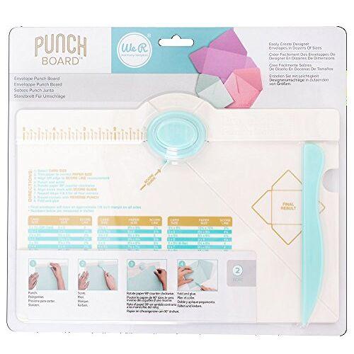 We R Memory Keepers Rayher Hobby 57984000 Envelope Punch Board, , stans- en vouwbord voor enveloppen van papier, enveloppen, in vele verschillende maten