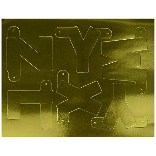 Beistle 55219-GD Gold Designer Letter and Number Kit, 41/2 inch