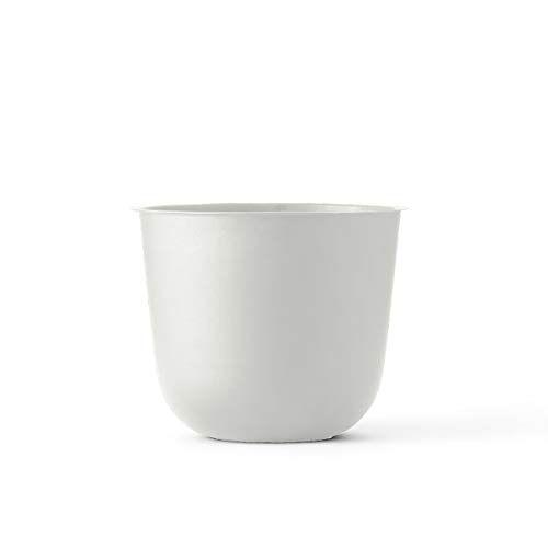 Menu bloempot/plantenpot, metaal, wit, 23 x 23 x 17 cm