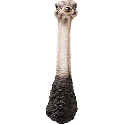 Kare Design wandversiering Ostrich, wandversiering in boeket vorm, zwart en wit