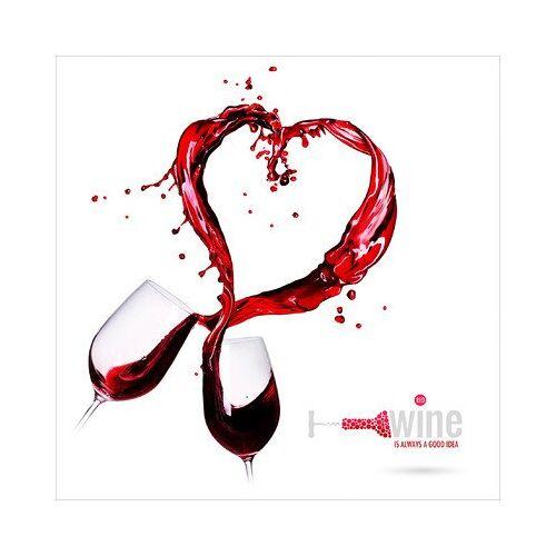 ART Pro-Art gla1098a muurschildering glas-Art 'Red Line' 30 x 30 cm