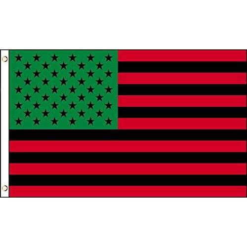 AZ FLAG Afro-Amerikaanse Vlag van de Verenigde Staten 150x90cm Afro-Amerikaanse Vlag 90 x 150 cm Vlaggen AZ VLAG