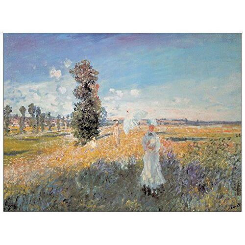 ArtPlaza AS10235 velden in lente (economie), hout, bont, 80 x 1,8 x 60 cm