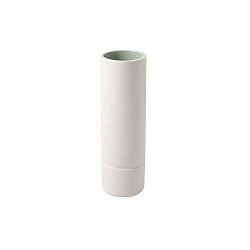 Villeroy & Boch 10-4275-5172 its my home vaas mineraal, elegante bloemenvaas voor kunstzinnige bloemstukken, premium porselein, groen, wit, porselein