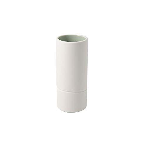 Villeroy & Boch 10-4275-5171 its my home vaas mineraal, elegante bloemenvaas voor kunstzinnige bloemstukken, premium porselein, groen, wit, handwas, porselein