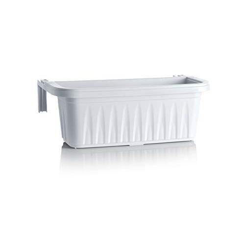 Bama Bloembak, waterreservoir, rond, kunsthars, wit, 50 cm