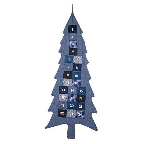 pajoma XXL adventskalender om te vullen kerstboom van stof om op te hangen, kerstkalender