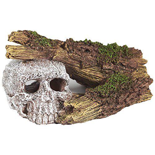 Pet Ting Aquariumdecoratie, verzonken schedel en gebroken houtsnijwerk, aquariumdecoratie