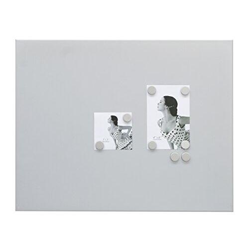 Deknudt Frames S58MN3 magnetische wand en magneten 40x50 magnetische wand mat zilver + 8 ronde magneten metalen magneetbord en magneten