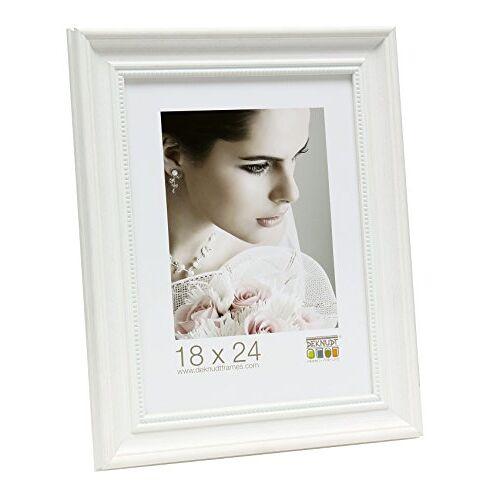 S45H Antiek fotolijst in 10x15 tot 40x60 cm goud zilver wit klassiek fotolijsten: Kleur: Wit   Formaat: 20x25