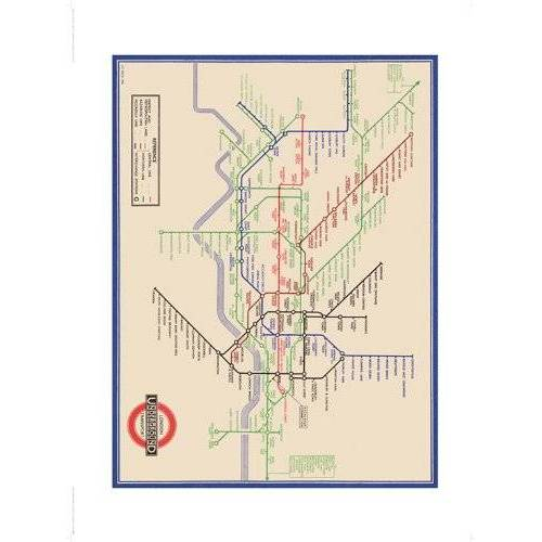 Pyramid London Transport (7) Gemonteerde Framed Print