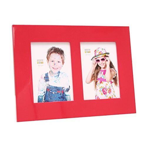 Deknudt Frames S66WK4 fotolijsten 13x18 fotolijsten hoogglans rood, voor 2 foto's hout fotokader
