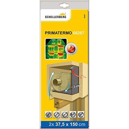 Schellenberg 66267 rolluikkastisolatie, energiebesparende isolatie voor rolluiken, isolatiewielen WLG 033 PRIMATERMO 3 mm – 2 keer elk 150 x 37,5 cm