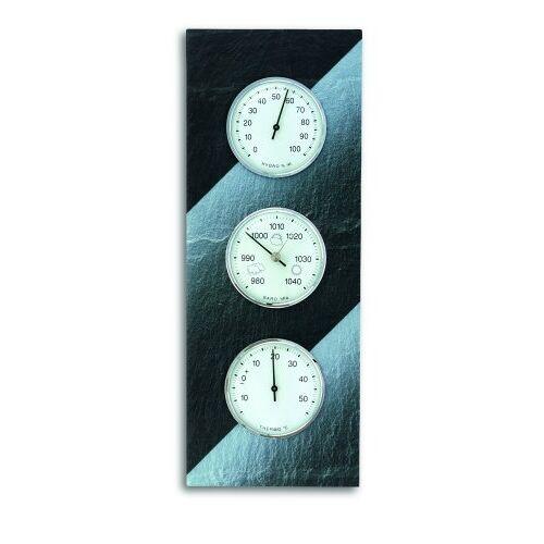 TFA Dostmann Analoog weerstation, van leisteen, barometer, thermometer, hygrometer