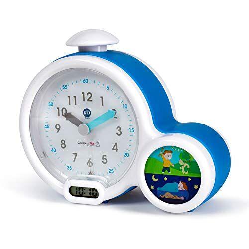 Pabobo - Kid Sleep Pabobo Kid Sleep wekker pedagogische kinderwekker dag/nachtlicht dubbel display en 3 alarmen om te kiezen werkt op gelijkstroom of batterijen blauw