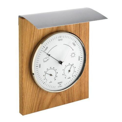 TFA Dostmann Analoog weerstation, voor binnen en buiten, barometer, thermometer, hygrometer, weerbestendig.