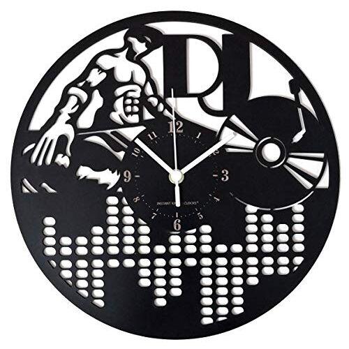 Instant Karma Clocks Dj Deeejay Wandklok, plat, vinyl, cadeau-idee, HDF, hout, zwart