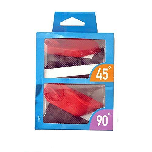 Maped M172150-45 en 90 snijwerktuigen mat snijder, elk inclusief 5 bladen, rood/zwart