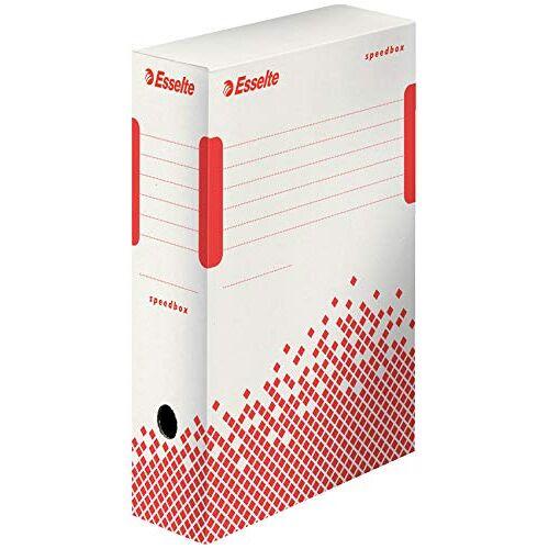 Esselte 623908 archiefdoos SPEEDBOX, DIN A4, wit/rood, (B) 100mm