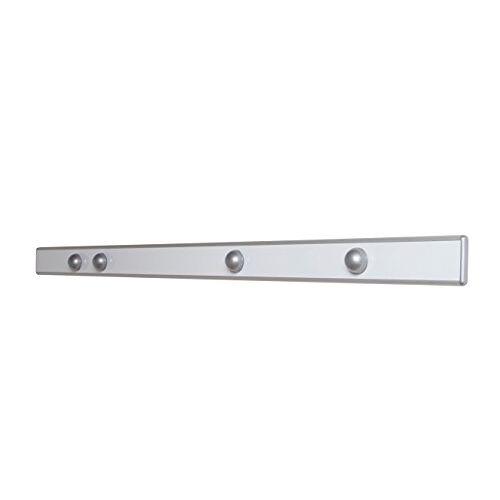 MAUL 6250094 Magneet-wandlijst design, 100 x 5,3 cm (l x b), inforail inclusief 4 kogelmagneten, zilver, 1 stuk